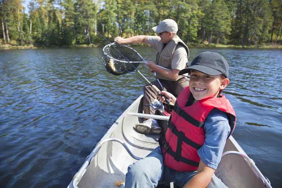 Boy in fishing hat