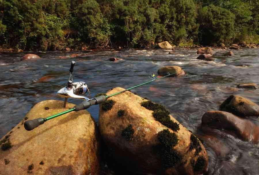 Fishing Rod on Rocks
